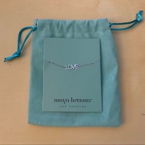Maya Brenner LOVE Necklace
